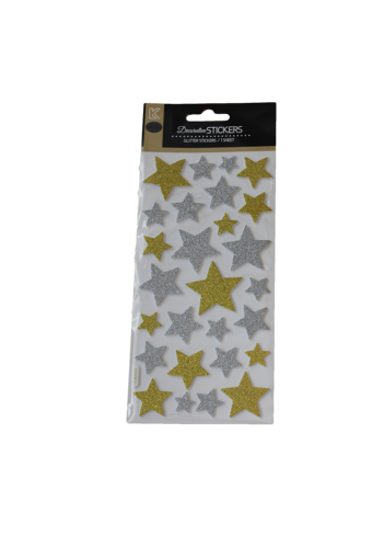 Picture of ستيكر لاصق - نجوم ذهبية وفضية