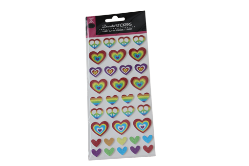 Picture of ستيكر لاصق - قلوب ملونة